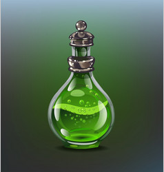 green poison bottle vector image