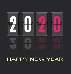 happy new year 2020 text design vector image