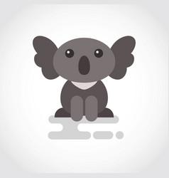 icon funny coala in flat design vector image