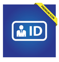 Id card icon for web and mobile vector