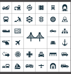 infrastructure icons universal set for web and ui vector image