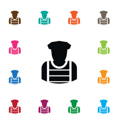 isolated sheriff icon policeman element vector image