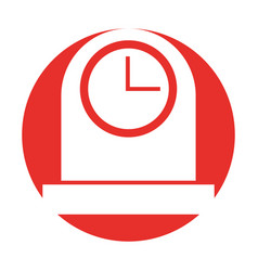 Kitchen balance isolated icon vector