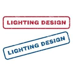 Lighting Design Rubber Stamps vector