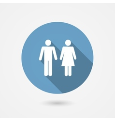 Male and female WC icon vector image