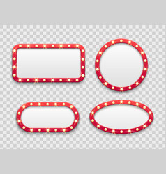 Marquee light frames vintage round and vector