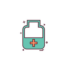 medicine bottle tablets icon desige vector image