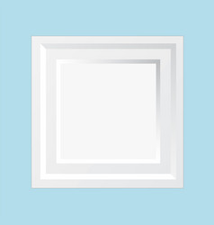 modern wooden white square wall frame for special vector image
