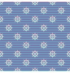 Nautical pattern with wheels vector