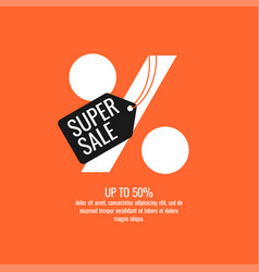 original sale poster for discount modern vector image