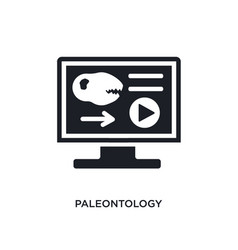 Paleontology isolated icon simple element from vector