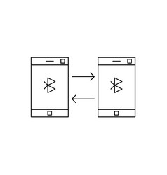 phone bluetooth icon vector image