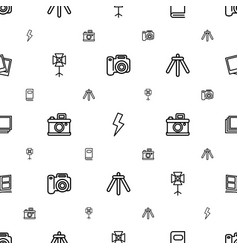 Photograph icons pattern seamless white background vector