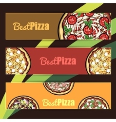 PizzaBanners2 vector image