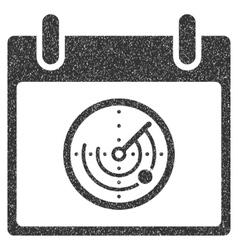 Radar Calendar Day Grainy Texture Icon vector image