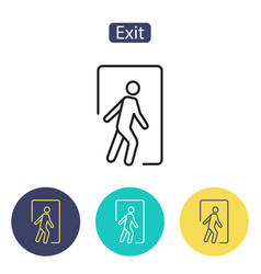 safe condition signemergency exit vector image