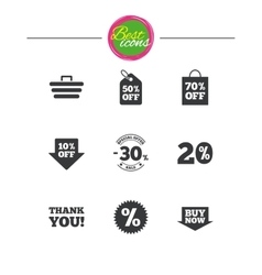 Sale discounts icon Shopping deal signs vector