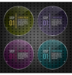 Set of colored glass panels vector