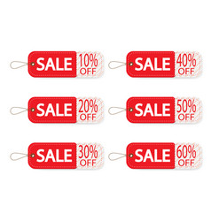 set of price discount sale tag label background vector image vector image
