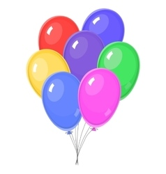 Seven Colorful balloons vector image