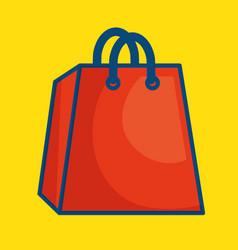 Shopping bag paper icon vector