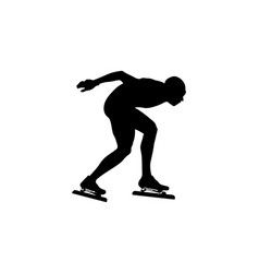 Skating sport black silhouette vector