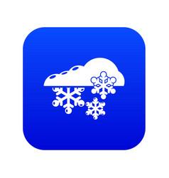 snowflake icon simple black style vector image
