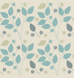 spring seamless pattern with flowers and leaves vector image