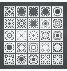 Square Ornament Set vector image