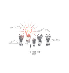 the best idea concept hand drawn isolated vector image