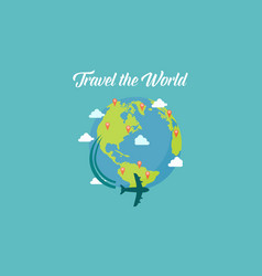 Traveling to the world collection vector