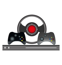 Video games controller set vector