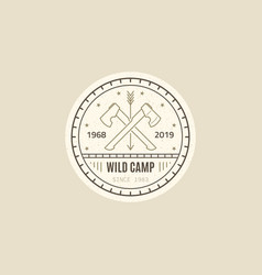 wild camp logo vector image