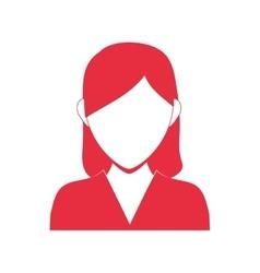 Woman head and torso icon avatar female design vector