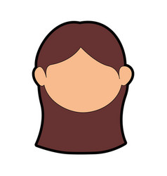 Women face cartoon vector