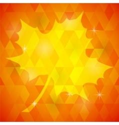 Yellow Mosaic Autumn Leaf vector