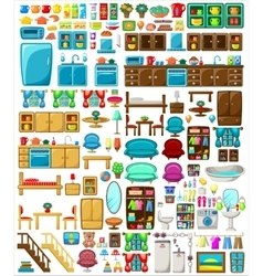 Big set of furniture vector image vector image