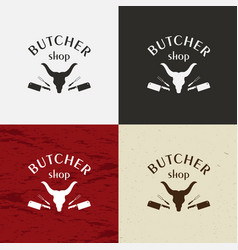 butcher shop icon butcher shop logo vector image vector image