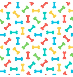 Colorful bones seamless pattern background vector image vector image