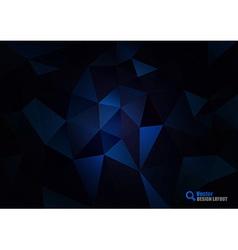 Dark Blue Triangles vector image