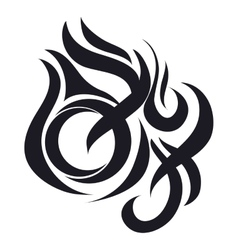 Fire abstract icon vector
