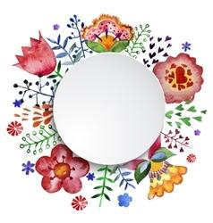 floral composition watercolor vector image vector image