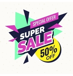 Super sale banner Retro edition vector image vector image