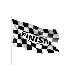 waving flagcing inscription finish vector image