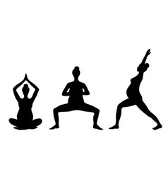yoga for pregnant women set of yoga poses for vector image