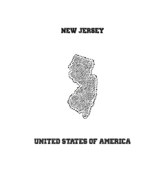 Label with map of new jersey vector image