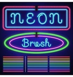 Vintage neon electric stroke custom pattern vector image