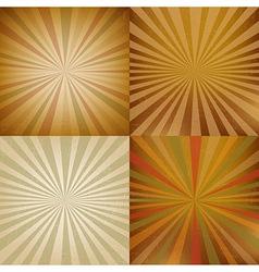 Vintage Sunburst Backgrounds Set vector image vector image