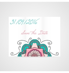 Abstract brochure with floral ornament vector image vector image
