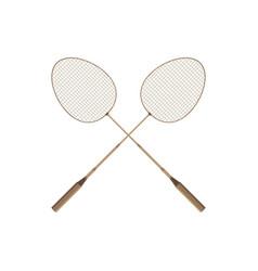 badminton rio icon design player racket sport vector image